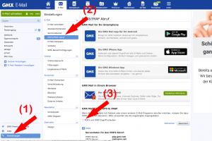 Screenshot: POP3/IMAP Postfach erlauben